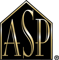 logo certificazione ASP, Accredited Staging Professional, cioè professionista accreditata/o dell'Home Staging.